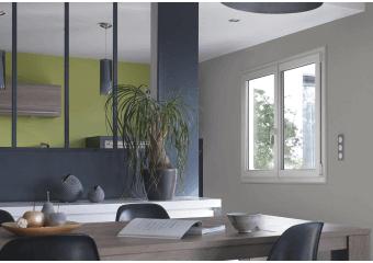 Fenêtre PVC standard blanche
