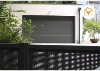 Porte de garage connectée motorisée domotique