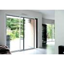 Baie vitrée aluminium bicoloration