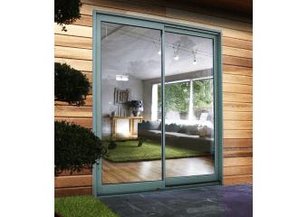 Baie vitrée aluminium colorée