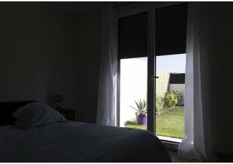 Porte-fenêtre alu volet roulant intégré